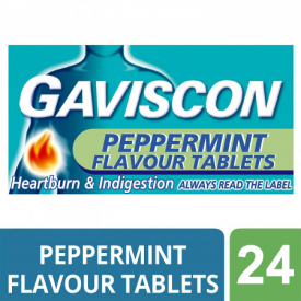 Gaviscon Chewable Tablets Peppermint - 24 Tablets