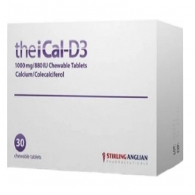 TheiCal-D3 1000MG/880 IU Chewable - 30 Tablets