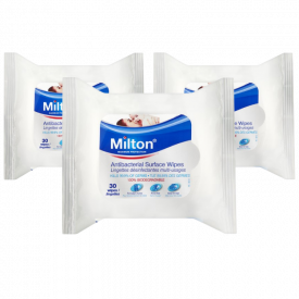 3 Pack Milton Antibacterial Surface Wipes - 30